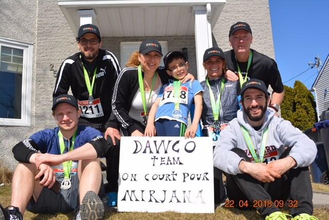 Des employés de DAWCO ont participé à la course de Laval de Champfleury
